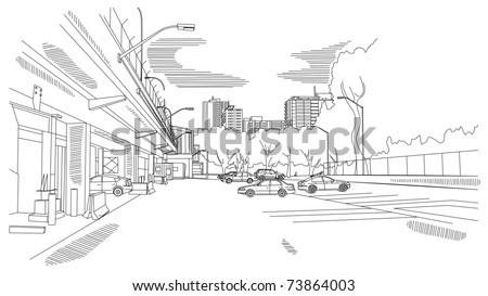 urban scene - stock vector