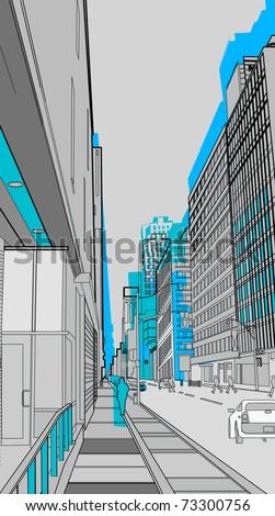 urban scenics - stock vector