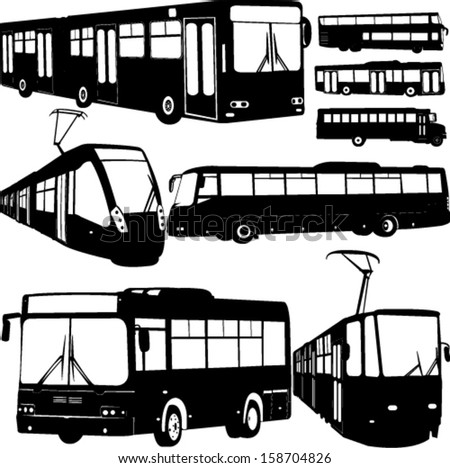 urban transportation collection 1 - vector - stock vector