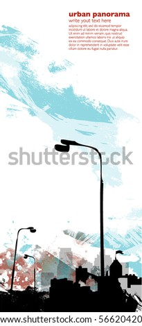 urban vertical background - stock vector