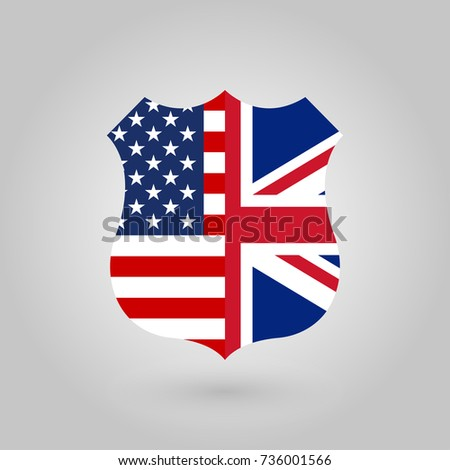 Flag Uk Round Icon Badge United Stock Vector 611402096 ...