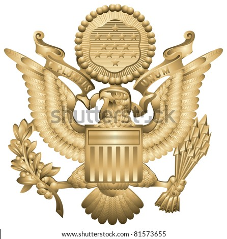 Us Army Officers Hat Insignia United Stock Vector 81573655