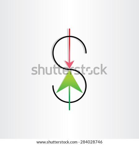 us dollar variation money banking symbol design - stock vector