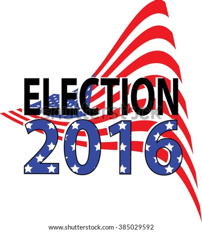 US Election 2016 Flag Background - stock vector