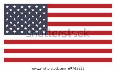 Us flag - stock vector