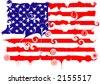US flag distorted - vector illustration - stock vector