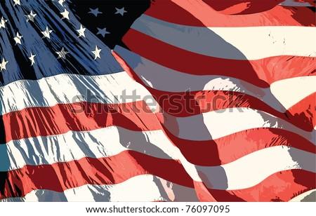 US Flag. EPS 10 Vector. - stock vector