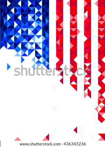 Us flag polygon card