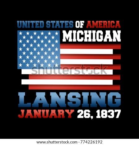 us flag inscription united states america stock vector 774226192