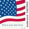 US Flag with space to write your text. Vector - stock photo