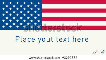 US Flag. Write your Own Text Bellow the Flag. Vector - stock vector