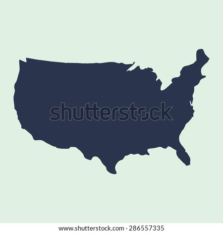 us map blue usa map us icon template