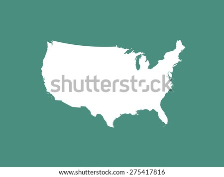 US map outlines, vector map of United States of America  in a new design - stock vector