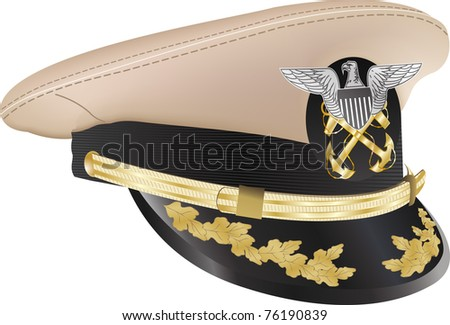 US navy cap hat - stock vector