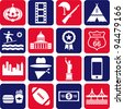 US pictograms - stock photo