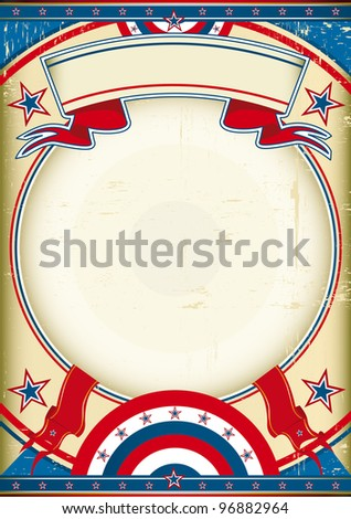 US poster. Grunge Image with a grunge background. It's a great background to make use of an advertising. See another illustrations like this on my portfolio. - stock vector