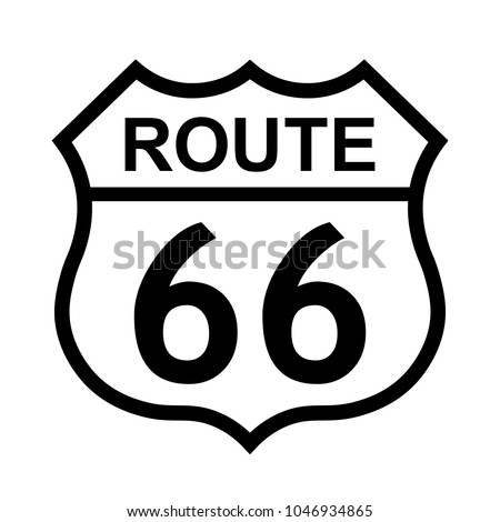 Us Route 66 Sign Shield Sign Stock Vector 1046934865 Shutterstock