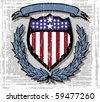 us shield - stock vector