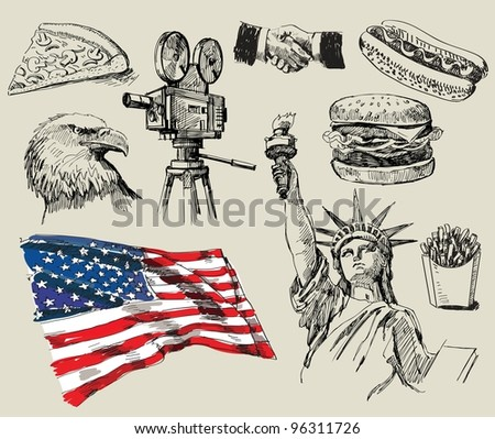 USA background - stock vector