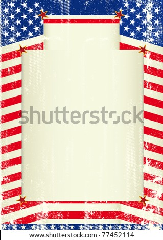 USA background A patriotic background with a frame for your message - stock vector
