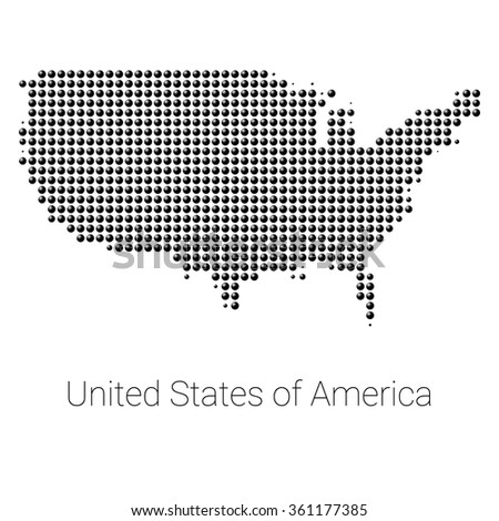 usa border map with 3d black dots creative design usa map usa logo