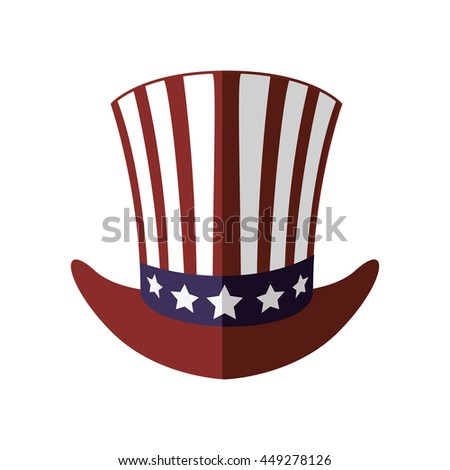 USA concept represented by hat icon. isolated and flat illustration