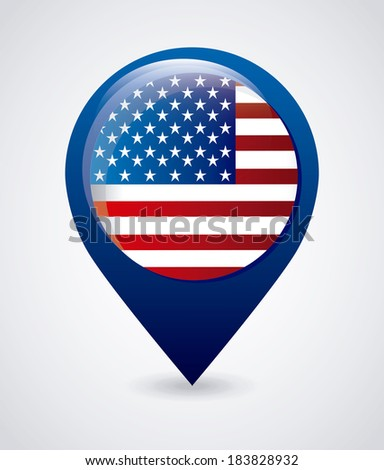 USA design over gray background, vector illustration - stock vector