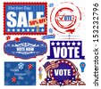 USA Election Day Sale Graphics Vector Set - stock vector
