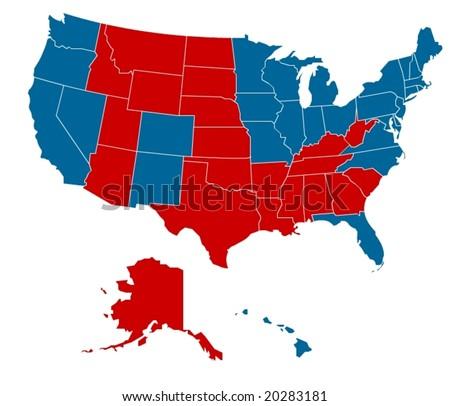 USA election 2008 in vector art - stock vector
