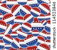 USA elections badge pins pattern. Vector file layered for easy manipulation and custom coloring. - stock vector