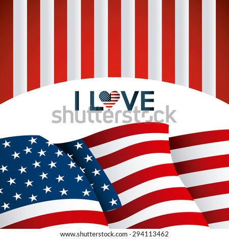 usa emblem design, vector illustration eps10 graphic  - stock vector