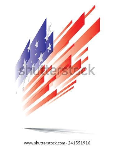 USA flag abstract, eps10 vector graphic - stock vector