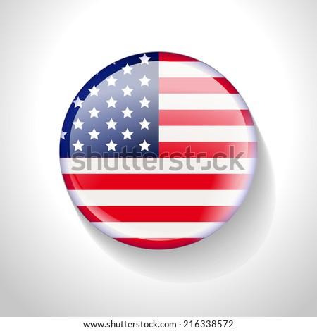 USA Flag Badge design. Vector illustration - stock vector