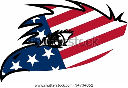 USA Flag Eagle Graphic