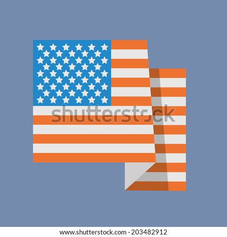 USA Flag, Flat vector design