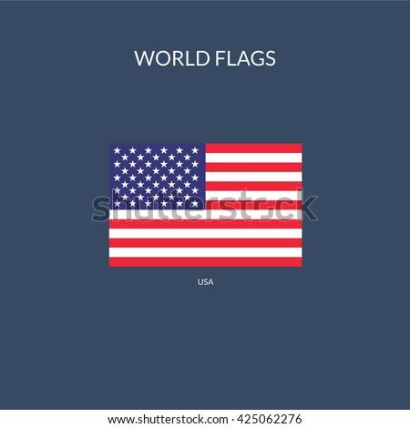 USA Flag Icon, USA Flag Icon Eps10, USA Flag Icon Vector, USA Flag Icon Eps, USA Flag Icon Jpg, USA Flag Icon Picture, USA Flag Icon Flat, USA Flag Icon App, USA Flag Icon Web, USA Flag Icon Art - stock vector