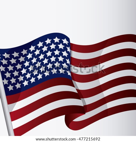 usa flag landmark patriotic united states of america icon. Colorful design. Vector illustration