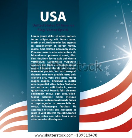 USA flag stars and Text Abstract Background