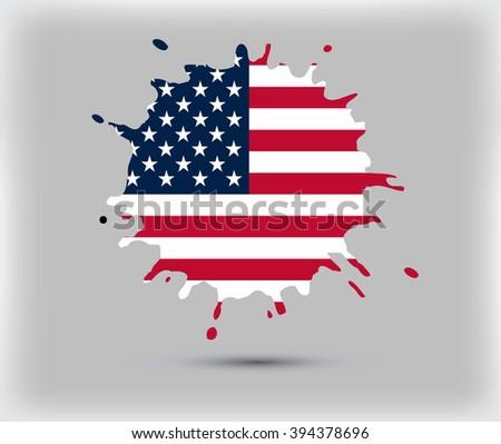 USA flag symbol.American flag vector design. - stock vector