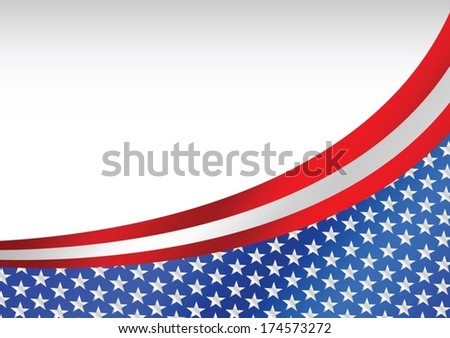 USA flag United States flag background - stock vector