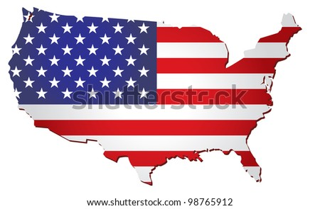 USA flag vector - stock vector