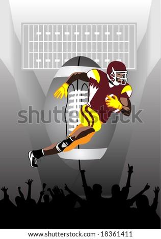 USA football - stock vector