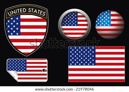 usa grest flag with web button and label