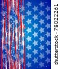 Usa independence abstract background with flag colors - stock vector