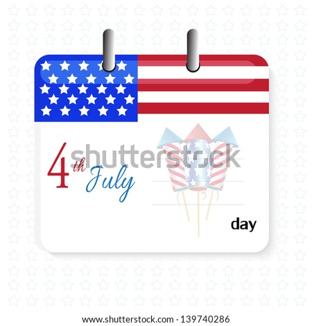 USA Independence Day Design - stock vector