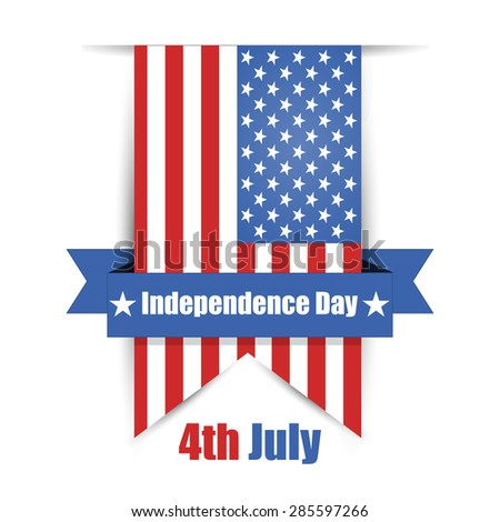 USA Independence Day vector illustration - stock vector