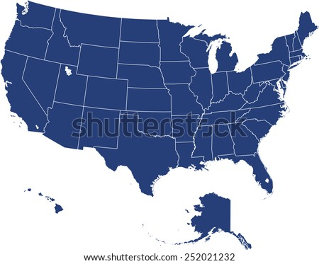 Usa Map Stock Images RoyaltyFree Images Vectors Shutterstock - Picture of usa map