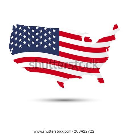 Usa Map And Flag Pattern Ilratiom Eps10