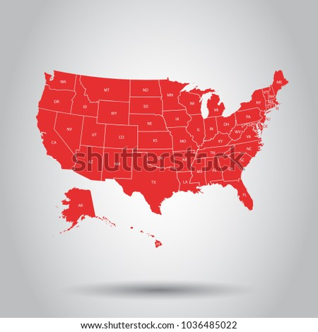 North america map icon flat vector stock vector 605257907 usa map icon business cartography concept united states of america pictogram vector illustration on sciox Choice Image