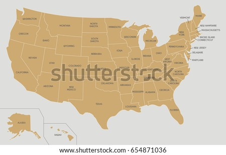 Political World Map Vector Illustration Isolated Stock Vector - Labeled us map vector